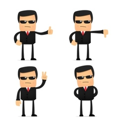 Security guard cartoon vector