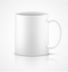 White 3d photorealistic ceramic cup vector image