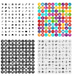 100 target icons set variant vector