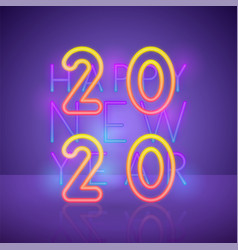 2020 new year background in 80s style bright vector image