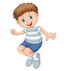 A chubby boy character vector