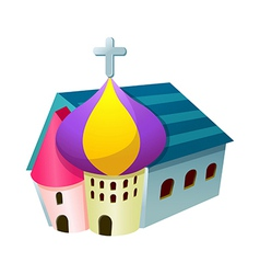 A church stand on vector