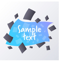 abstract template gradient geometric forms vector image