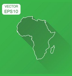 africa linear map icon business cartography vector image