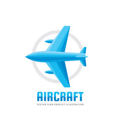 aircraft - business logo template concept vector image