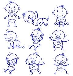Baby actions vector