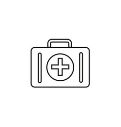 bag of medical icon vector image