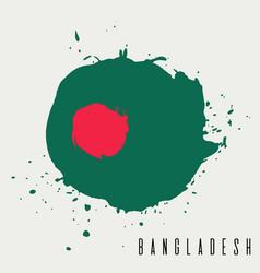 Bangladesh watercolor national country flag icon vector