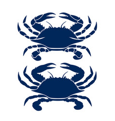 Blue crab drawing vector