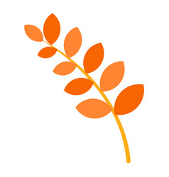 branch of tree autumn icon flat style vector image