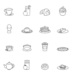 Breakfast icon outline vector image