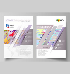 business templates for brochure flyer report vector image