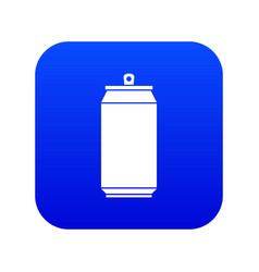 Can icon digital blue vector