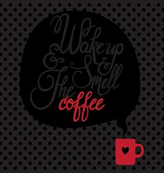 Card with coffee Lettering I love coffee vector image