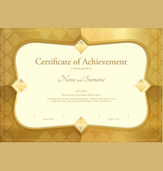Certificate of appreciation template thai art vector