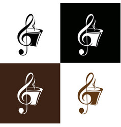 Chord g and coffee logo template vector