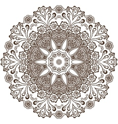 circular pattern indian vector image
