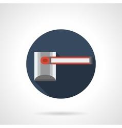 Closed passage round flat icon vector
