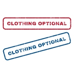 Clothing Optional Rubber Stamps vector