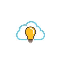 cloud idea logo vector image