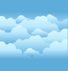 Cloudy sky background 1 vector