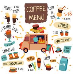 Coffee food trucks concept vector