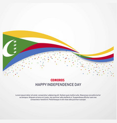 Comoros happy independence day background vector