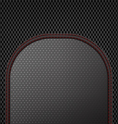 Dark sewing leather on carbon pattern background vector image