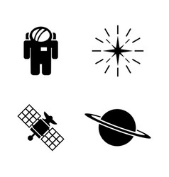 deep space exploration simple related icons vector image