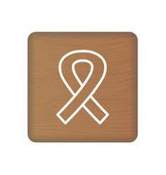 february 4 world cancer day icon on wooden block vector image