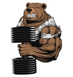 Ferocious Bear athlete vector image