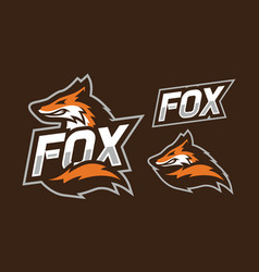 Fox mascot logo design vector