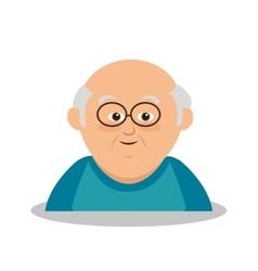 Grandfather character member avatar vector