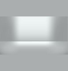 gray empty studio room with light gradient vector image