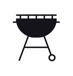grill icon roaster bbq charcoal grill sign and vector image