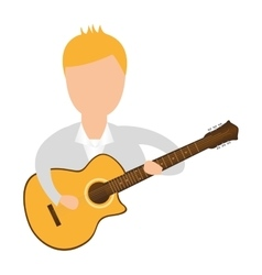 Guitarist avatar character man vector