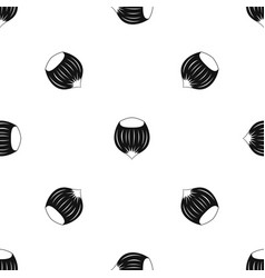 Hazelnut pattern seamless black vector