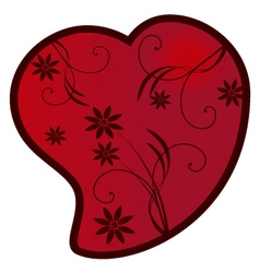 Heart with flourishes vector