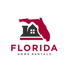home rental logo in florida vector image