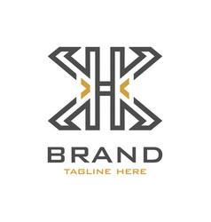 hx initial logo design vector image