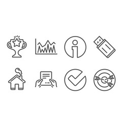 investment usb flash and verify icons receive vector image
