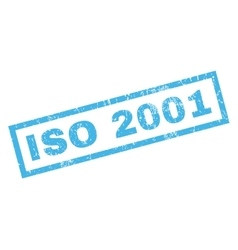 ISO 2001 Rubber Stamp vector