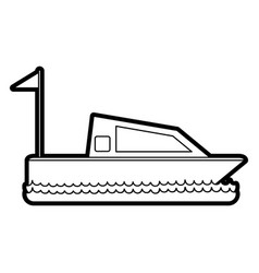 Isolated yacht design vector