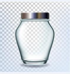 jar glass with golden cap for pickled fruit vector image