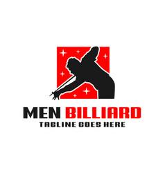 mens billiards sport modern logo vector image