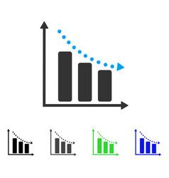 Negative trend flat icon vector