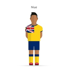 Niue football player Soccer uniform vector