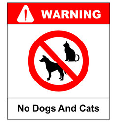 No pets allowed sign round red no pets vector