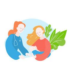 Pediatrician lactation consultant breastfeeding vector