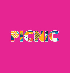 picnic concept word art vector image